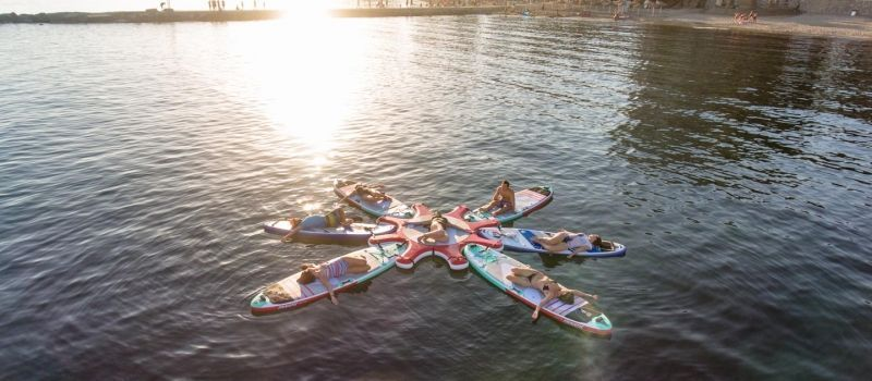 SUP Yoga in Marbella, groups of 6